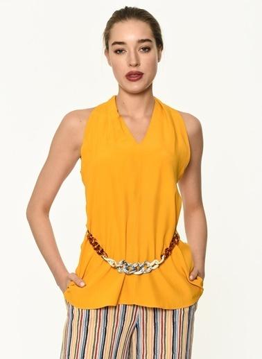 Ipekyol Kadın  Bluz IS1190006212 Sarı